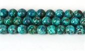 Chrysocolla 5A Pol.Round 10mm str 41 beads-chrysocolla-Beadthemup