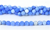 Agate Fire Dyed Blue Fac.Round 12mm str 33 beads-agate-Beadthemup
