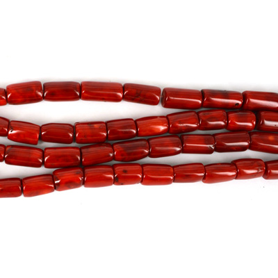 Coral Red Tube App 14x19mm Str App 21 Beads Beads Incl Pearls Gemstone Beads Beads Jewellery Pearls Swarovski Beading Supplies 925 Silver Red