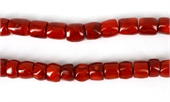 Coral Red Tube app 14x14mm str app 30 beads-gemstone beads-Beadthemup