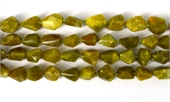 Green Opalite Madagascar Fac.Nugget 10x13mm str 30 beads-gemstone beads-Beadthemup