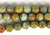 Opal Blue African Polished Round 12mm strand 34 beads-gemstone beads-Beadthemup