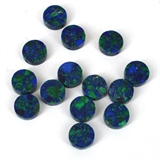 Azurite Recon.12mm Coin/Flat round pillow Bead EACH-3 ring modern gemstone 14k gold filled earrings-Beadthemup