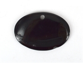 Black Agate Pendant 70 x 50mm-beads incl pearls-Beadthemup