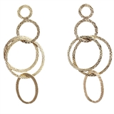 Gold plate Brass Silver post Earring 75mm pair-findings-Beadthemup