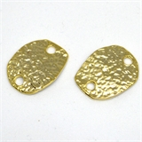 Gold plate Pewter Connector 18x14mm 2 pack-findings-Beadthemup
