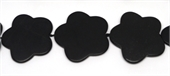 Matt Onyx Flower 47mm EACH BEAD-onyx-Beadthemup