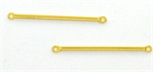 Gold plate brass Connector Bar 32mm 4 pack-findings-Beadthemup