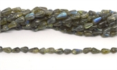 Labradorite Polished teardrop 9x4mm 40 beads Strand-5 strands or more for $4.00 per strand-Beadthemup
