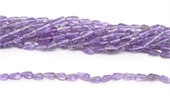Amethyst Polished Teardrop app 9x4mm 38 beads strand-5 strands or more for $4.00 per strand-Beadthemup