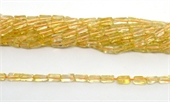 Citrine Polished Rectangle 8x3.7mm strand 50 beads-citrine-Beadthemup
