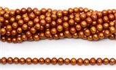 Fresh Water Pearl potato side drill 7x6mm Dark Gold strand 62 beads-5 strands or more for $4.00 per strand-Beadthemup
