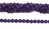 Amethyst Faceted Round 8mm strand 48 beads-amethyst-Beadthemup