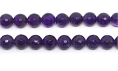 Amethyst Faceted Round 12mm strand 34 beads-amethyst-Beadthemup