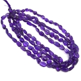 Amethyst Polished Nugget 12x9mm strand 36 beads-amethyst-Beadthemup