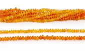Carnelian Polished Rondel 5x3mm strand 118 beads-gemstone beads-Beadthemup