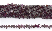 Garnet center drill diamond 8x4mm strand 80 beads-5 strands or more for $4.00 per strand-Beadthemup