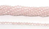 Rose Quartz Pol.Round 5mm strand 69 beads-rose quartz-Beadthemup