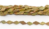 Jasper Autumn Pol.flat Diamond 14x7mm strand 26 beads-jasper-Beadthemup