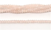 Rose quartz Pol.Rondel 6x3mm strand 110 beads-rose quartz-Beadthemup