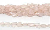 Rose Quartz Fac.Nugget 14x10mm strtand 22 beads-rose quartz-Beadthemup