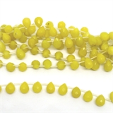 Dyed Jade Green Faceted 12mmx9mm strand 33 beads-5 strands or more for $4.00 per strand-Beadthemup