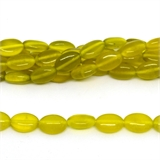 Serpentine Yellow Jade Flat Oval 12mmx8mm strand 32 beads-jade-Beadthemup