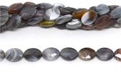 Botswana Agate Faceted flat oval 20x15mm strand 20 beads-agate-Beadthemup