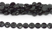 Onyx Faceted flat Round 14mm strand 28 beads-onyx-Beadthemup