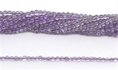 Amethyst light Polished Round 3mm beads per strand 120 beads-amethyst-Beadthemup