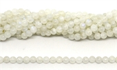Moonstone A Polished round 6mm strand 63 beads-beads incl pearls-Beadthemup