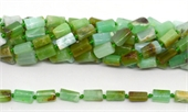 Chrysophase Rough Faceted tube 12x6mm strand 33 beads -chrysophase-Beadthemup