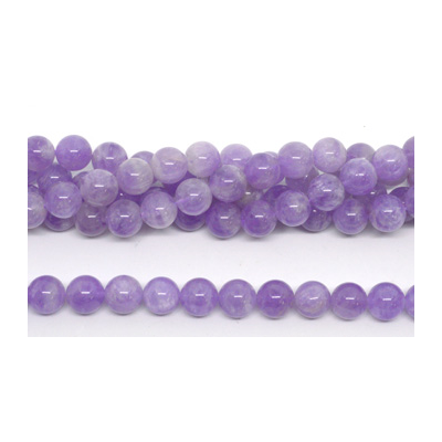 Lavender Amethyst Polished round 12mm Strand 32 beads