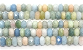 Beryl Faceted rondel 12x7mm Strand 57 beads-beryl and morganite-Beadthemup