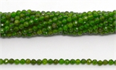 Chrome Diopside Facted round 4mm strand 100 beads-chrome diopside-Beadthemup