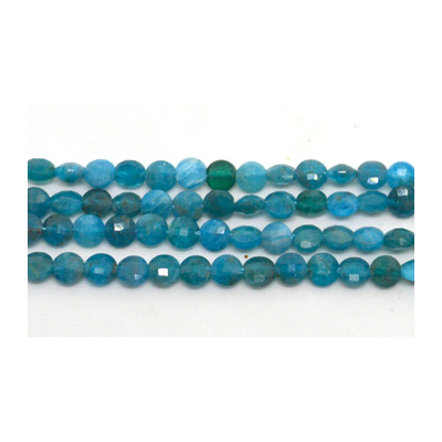 Apatite Faceted Coin 4mm EACH BEAD