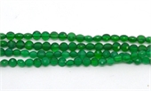 Green Onyx Faceted Coin 4mm EACH BEAD-onyx-Beadthemup