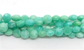 Amazonite African Faceted Coin 6mm EACH BEAD-gemstone beads-Beadthemup