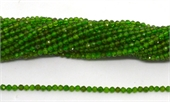 Chrome Diopside Faceted round 2.5mm strand 166 beads-chrome diopside-Beadthemup