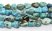 Blue Opal African Polished Nugget 18x25mm Strand 19 beads-gemstone beads-Beadthemup