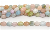 Beryl Polished Nugget 10x12mm strand 30 beads-beryl and morganite-Beadthemup