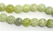 Jade Carved 12mm Round EACH BEAD-jade-Beadthemup