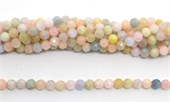 Beryl Faceted Round 6mm strand 70 beads-beryl and morganite-Beadthemup