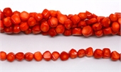 Orange Coral Nugget app 10mm strand 44 beads-gemstone beads-Beadthemup