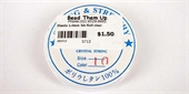 Elastic 0.7mm 8.5m roll  clear-stringing-Beadthemup