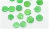 Chrysophase Faceted Flat Round app 12mm EACH BEAD-chrysophase-Beadthemup
