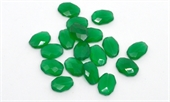 Green Onyx Faceted flat oval 15x11mm EACH BEAD-onyx-Beadthemup
