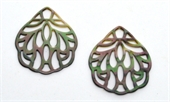 Mother of Pearl Filligree Pendant 40x48mm EACH-mother of pearl, bone and shell-Beadthemup