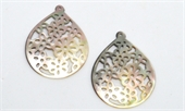 Mother of Pearl Filligree Pendant 38x50mm EACH-mother of pearl, bone and shell-Beadthemup