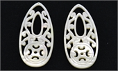 Mother of Pearl Filligree Pendant 24x50mm EACH-mother of pearl, bone and shell-Beadthemup